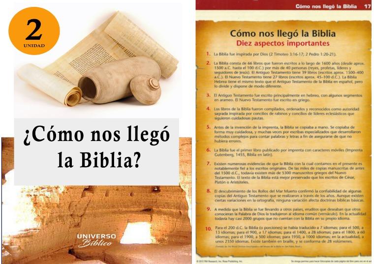 Universo Bíblico Magazin ¿Cómo nos llegó la Biblia? Unidad 2