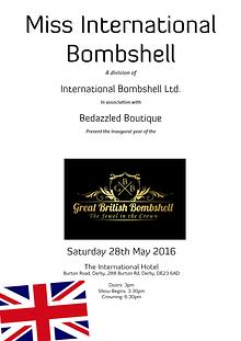 Great British Bombshell 2016