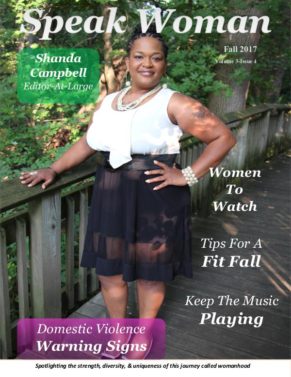 Speak Woman Magazine Fall 2017 Issue Speak Woman Magazine