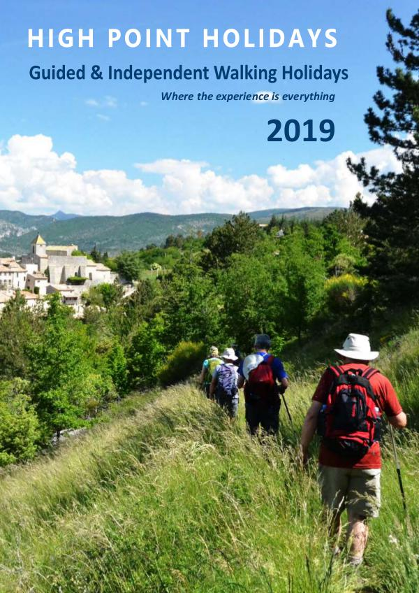 High Point Holidays Walking Holidays Brochure 2019 2019