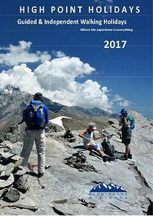 High Point Holidays Walking Holidays Brochure 2016