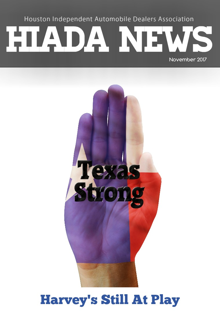Houston Independent Automobile Dealers Association November Issue: Harvey's Still at Play