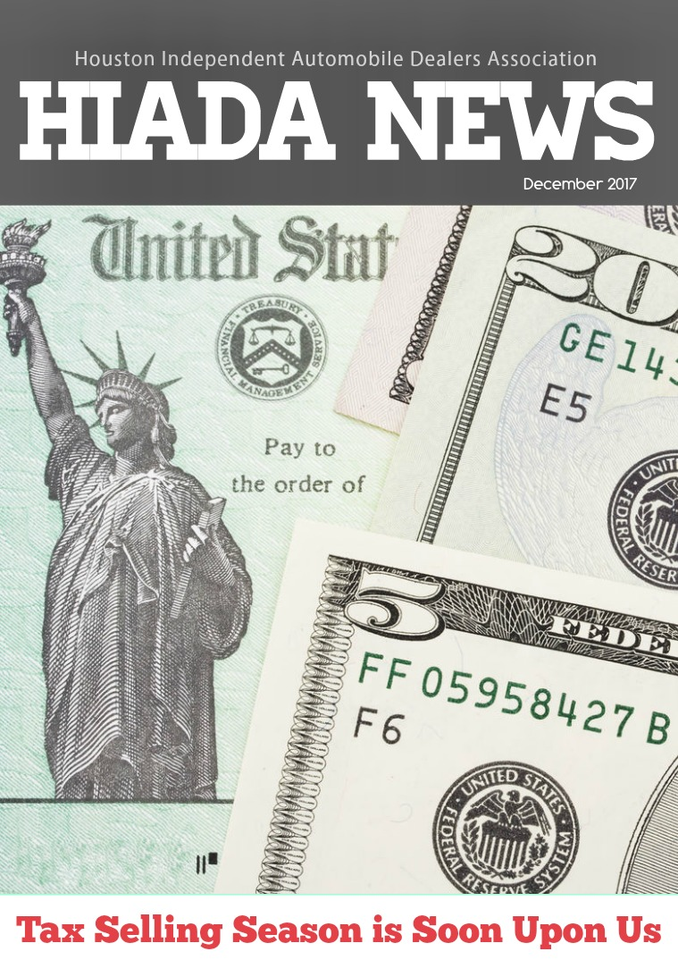 December Issue: Tax Selling Season is Soon Upon Us