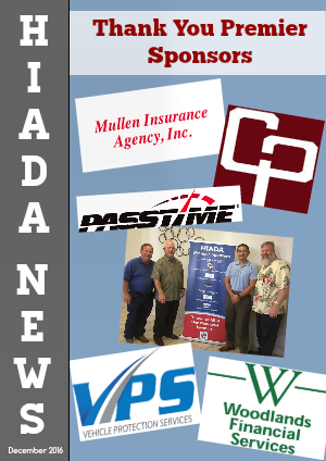 Houston Independent Automobile Dealers Association December Issue: Thanks to our Sponsors