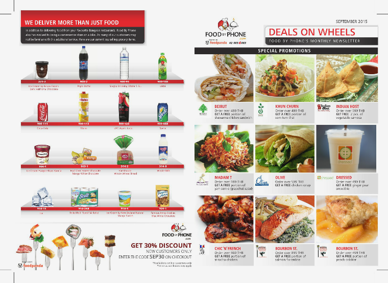 FOOD BY PHONE DEALS ON WHEELS