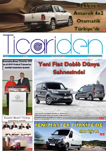 Ticariden Dergisi 1-30 Kasım 2014