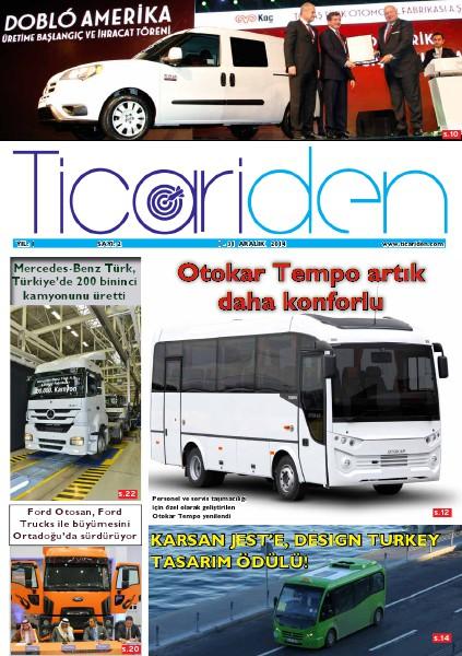 Ticariden Dergisi 1-31 Aralık 2014