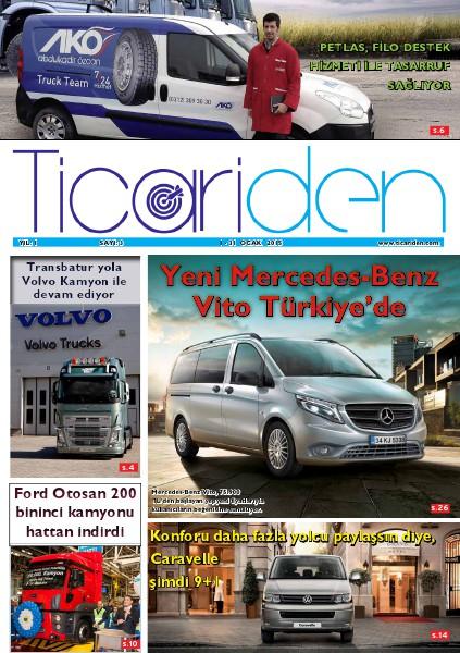 Ticariden Dergisi 1-31 Ocak 2015