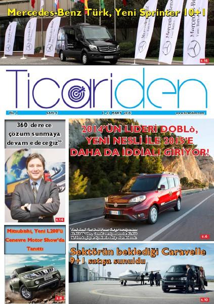 Ticariden Dergisi 1-31 Mart 2015