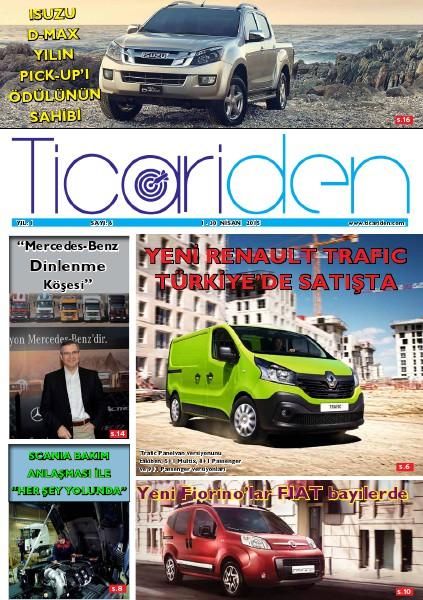 Ticariden Dergisi 1-30 Nisan 2015