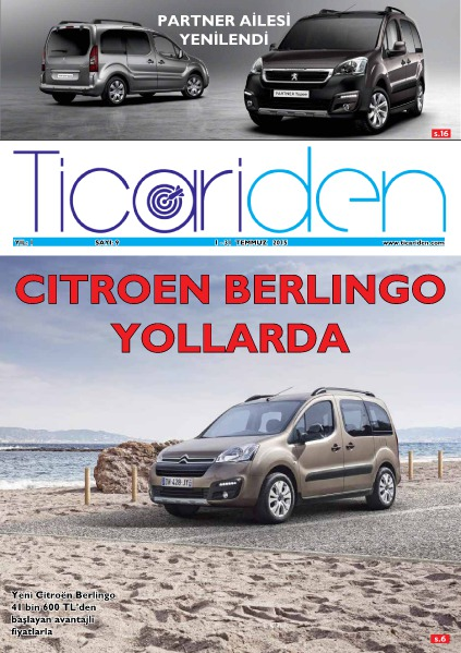 Ticariden Dergisi 1-31 Temmuz 2015