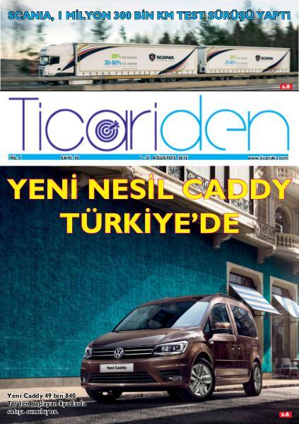 Ticariden Dergisi 1-31 Ağustos sayisi