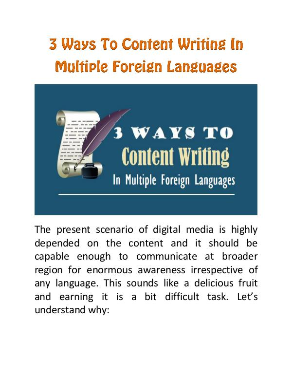 3 Ways to Content Writing In Multiple Foreign Languages 3 Ways To Content Writing In Multiple Foreign Lang