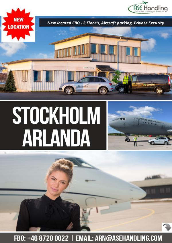ASE Handling - Denmark, Sweden & Thailand - Stockholm Arlanda ESSA/ARN