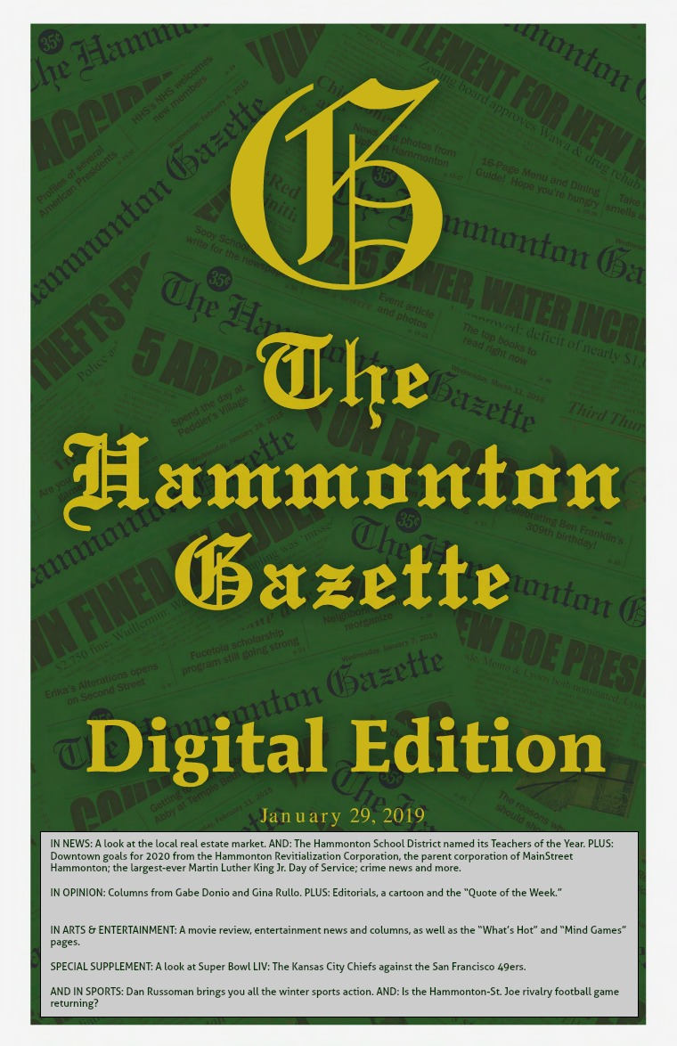 The Hammonton Gazette 01/29/20 Edition