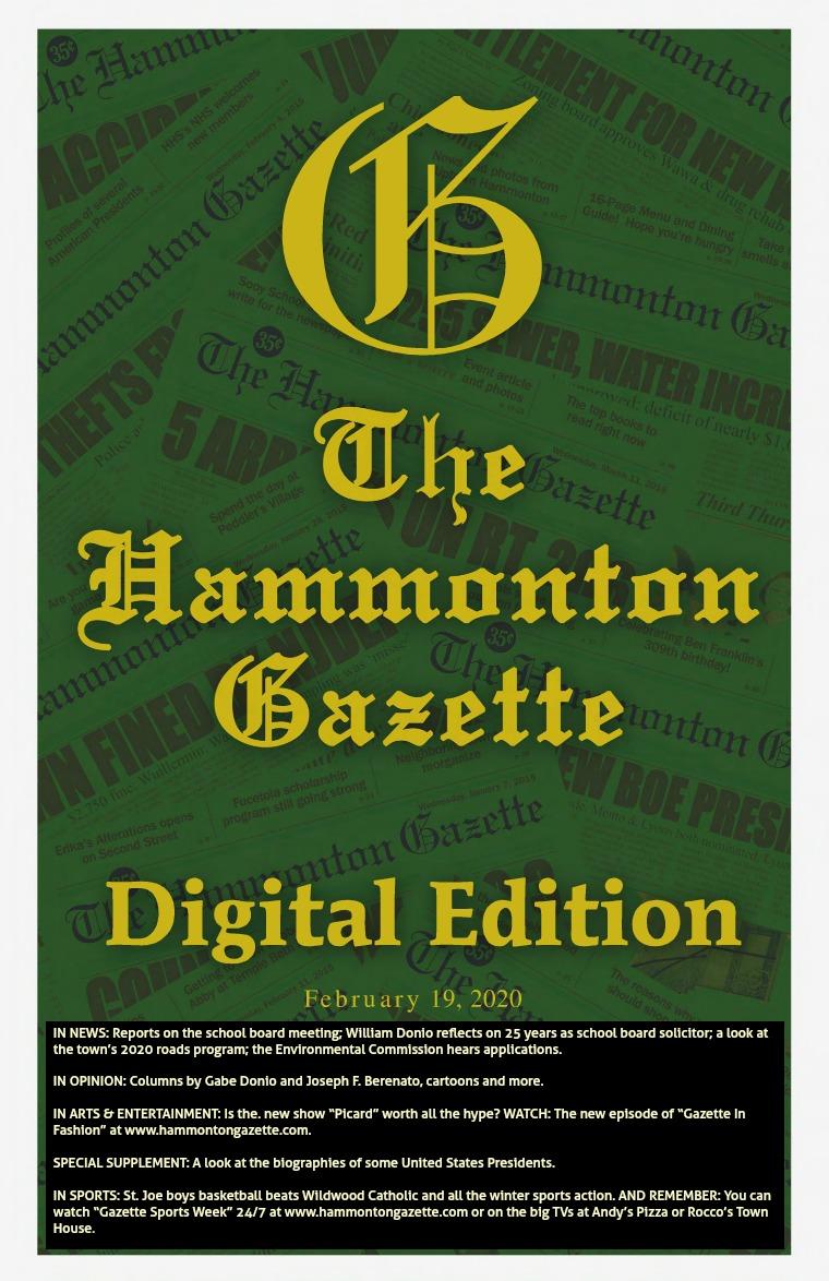 The Hammonton Gazette 02/19/20 Edition