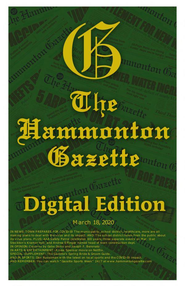 The Hammonton Gazette 031820 Gazette Digital Edition
