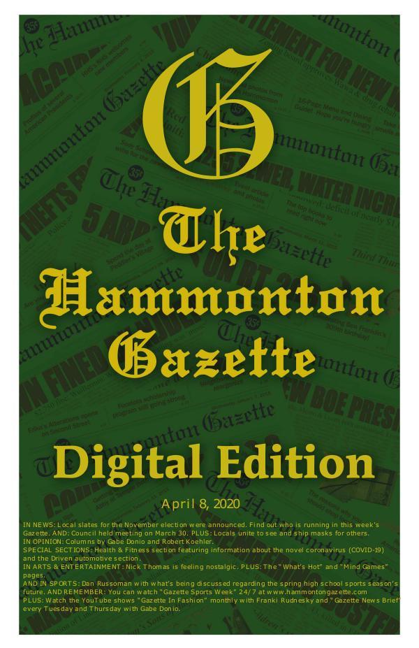 The Hammonton Gazette 040820 Hammonton Gazette