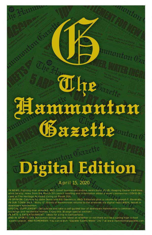 The Hammonton Gazette 04/15/20 Hammonton Gazette Digital Edition