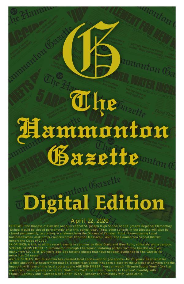 04/22/20 Hammonton Gazette Digital Edition
