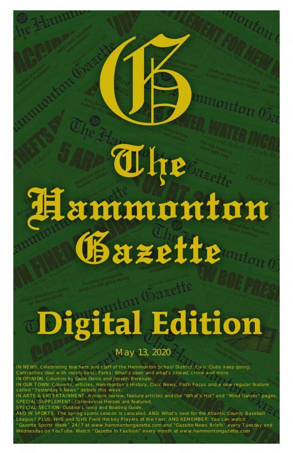 The Hammonton Gazette 05/13/20 Edition