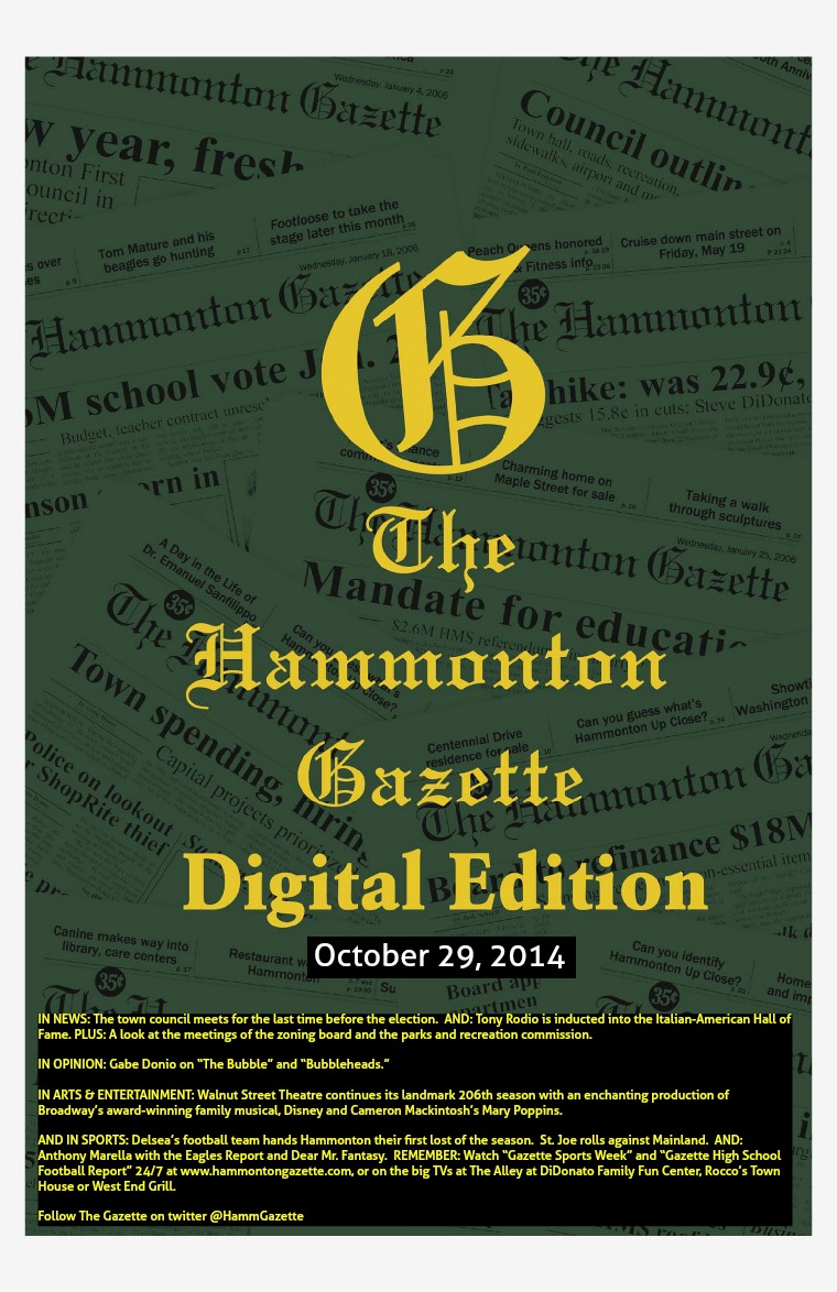 The Hammonton Gazette 10/29/14 edition