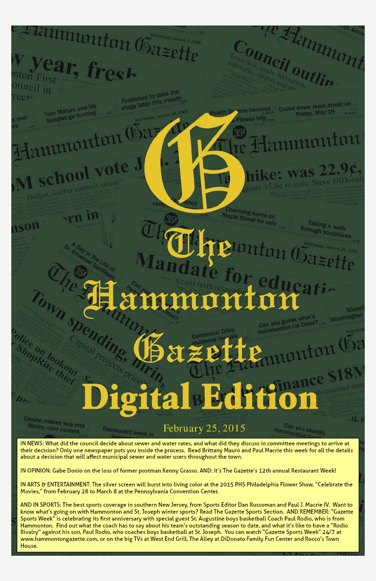 The Hammonton Gazette 02/25/15 Edition