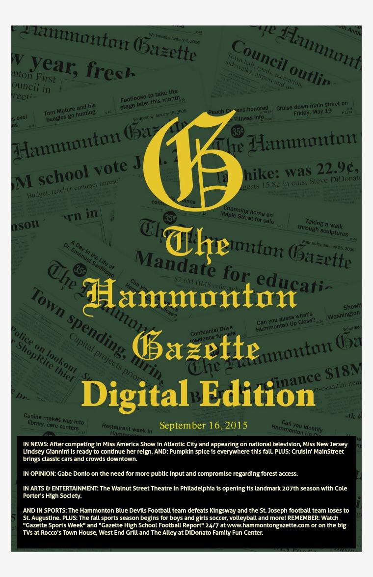 The Hammonton Gazette 09/16/15 Edition