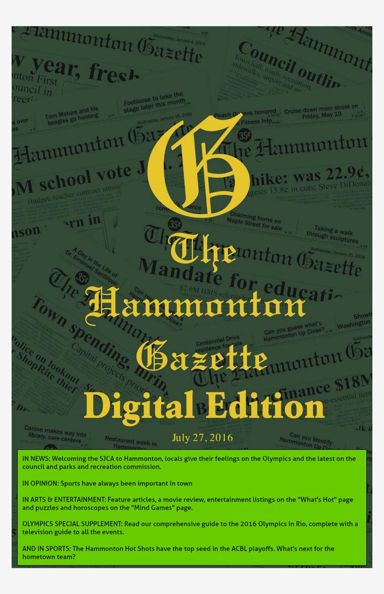 The Hammonton Gazette 07/27/16 Edition
