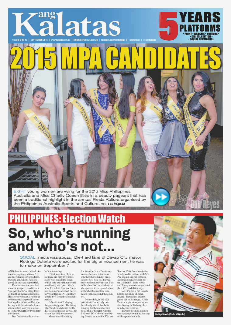 Ang Kalatas Volume V September 2015 Issue