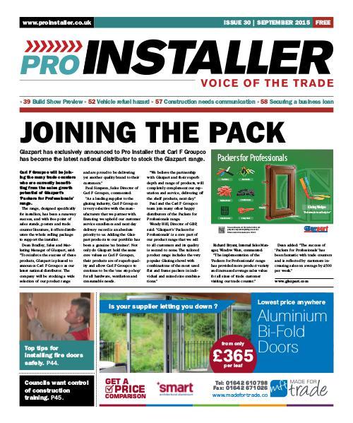 Pro Installer September 2015 - Issue 30