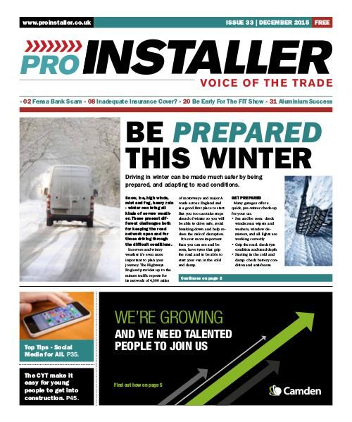 Pro Installer December 2015 - Issue 33