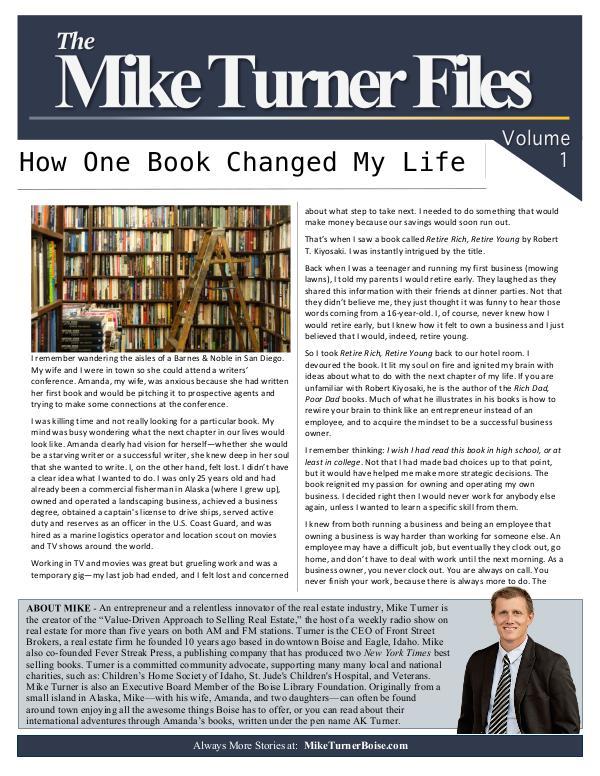 The Mike Turner Letter Volume 1