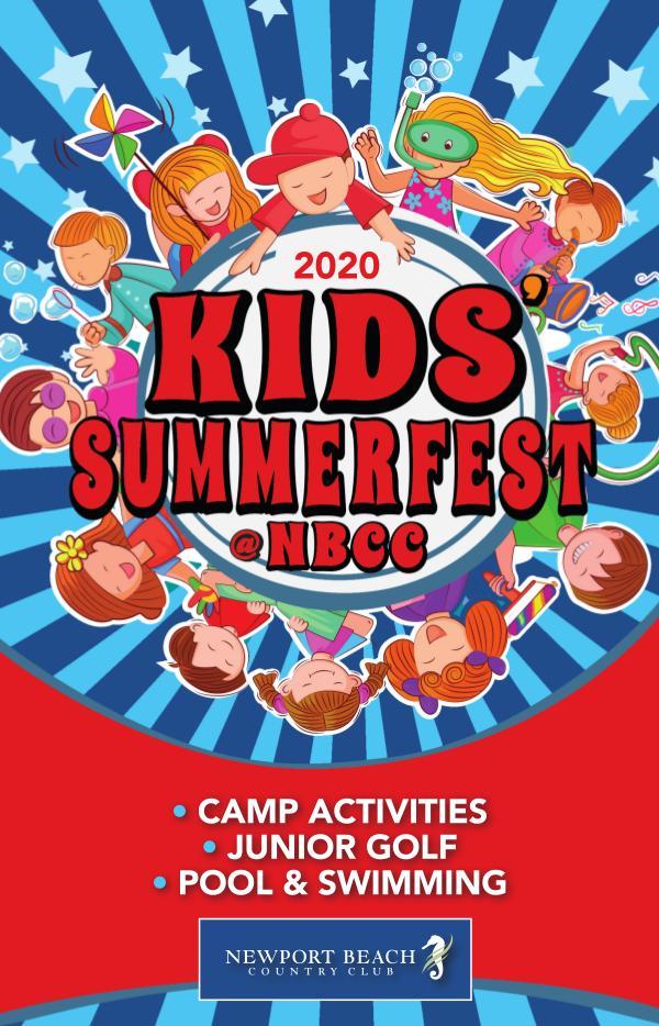 Newport Beach Country Club Summer Guide 2020 Kids Summerfest