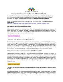 Thermoplastic Elastomers Market Type worth 27.8 billion USD by 2020