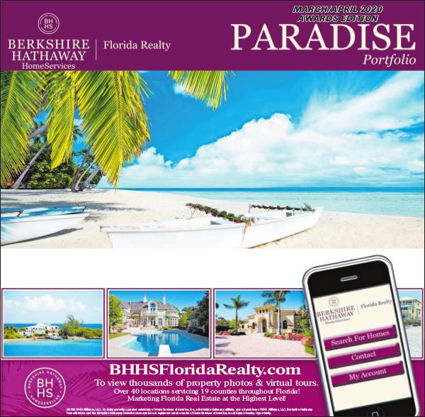 Paradise Portfolio – Miami Herald Edition March / April 2020 Miami Herald - Paradise Portfolio Awards Edition M