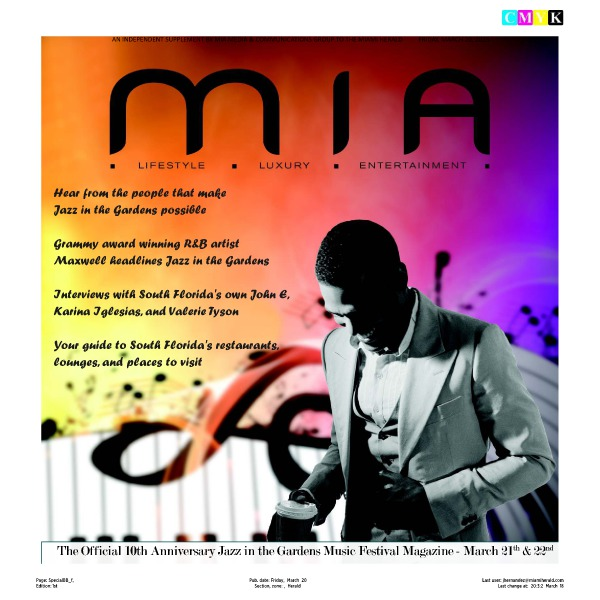 MIA Magazine March 2015 Jazz in the Gardens