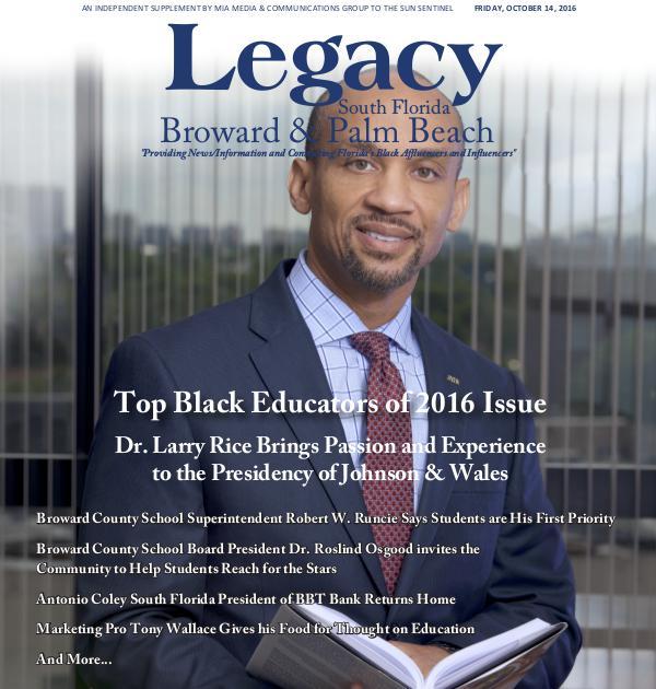 2016 South Florida: Top Black Educators Issue