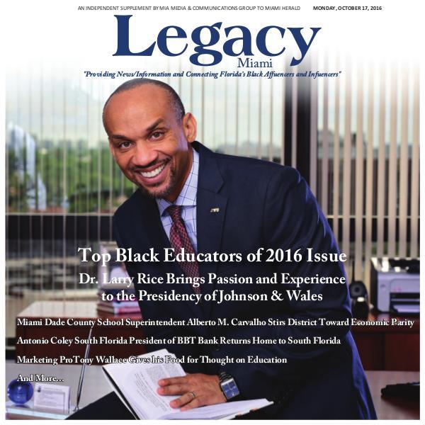 2016 Miami: Top Black Educators Issue