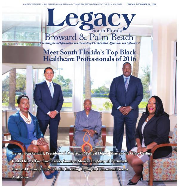 Legacy 2016 South Florida: Healthcare Issue