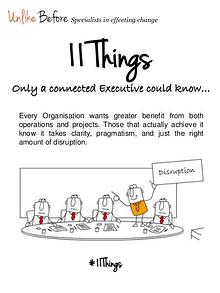 #11 Things - Only a connected Executive could know…