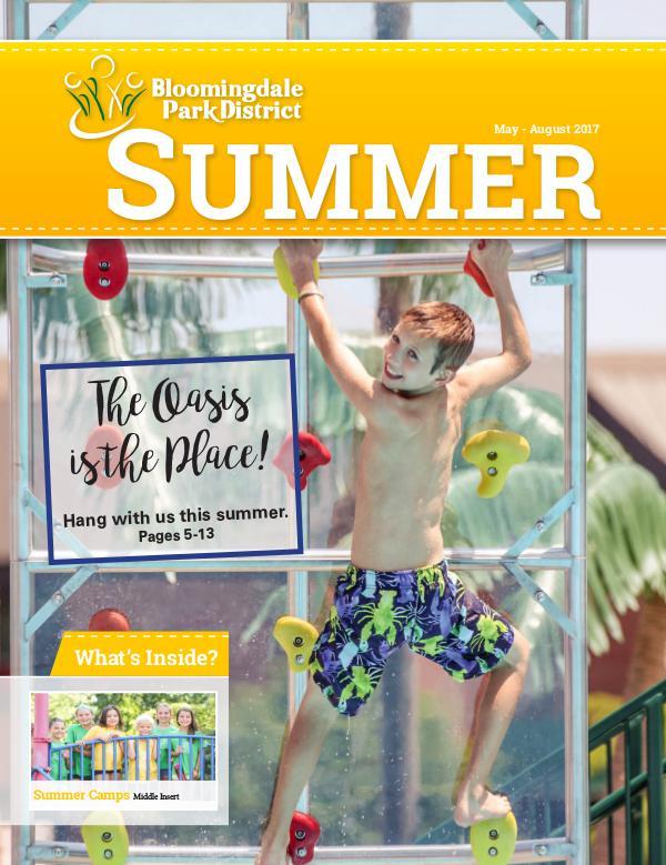 Bloomingdale Park District Seasonal Brochure Summer 2017