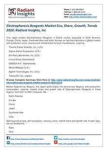 Electrophoresis Reagents Market Size, Share, Growth, Trends 2016