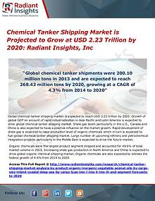 Chemical Tanker Shipping Market is Projected to Grow at USD 2.23