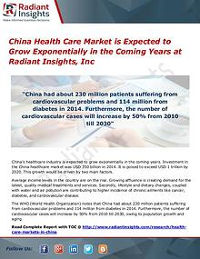 China Health Care Market is Expected to Grow Exponentially