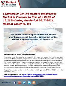 Commercial Vehicle Remote Diagnostics Market is Forecast to Rise