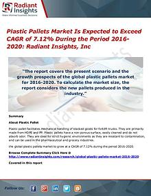 Plastic Pallets Market is Expected to Exceed CAGR of 7.12%