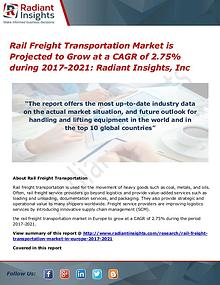 Rail Freight Transportation Market is Projected to Grow