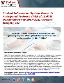 Student Information System Market is Anticipated to Reach
