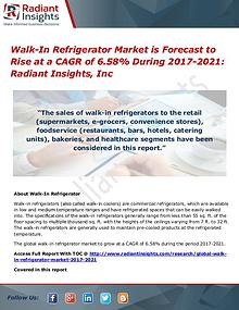 Walk-In Refrigerator Market is Forecast to Rise at a CAGR of 6.58%